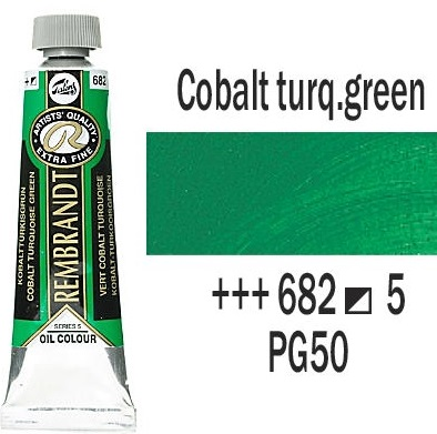 REMBRANDT Екстра Фини Маслени Бои 40 мл. - Cobalt Turquoise Green 5, № 682