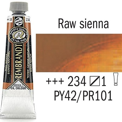 REMBRANDT Екстра Фини Маслени Бои 40 мл. - Raw Sienna 1, № 234