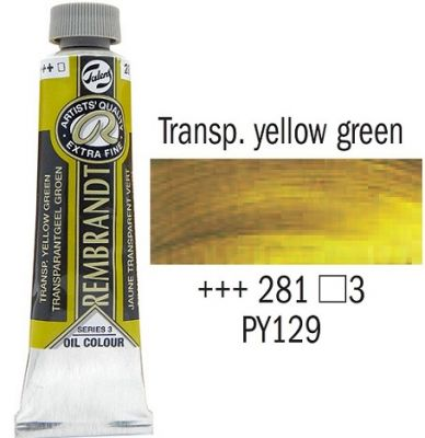 REMBRANDT Екстра Фини Маслени Бои 40 мл. - Transparent Yellow Green 3, № 281