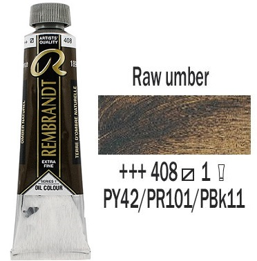 REMBRANDT Екстра Фини Маслени Бои 40 мл. -  Raw Umber 1, № 408