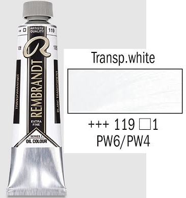 REMBRANDT Екстра Фини Маслени Бои 40 мл. - Transparent White 1, № 119