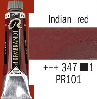 REMBRANDT Екстра Фини Маслени Бои 40 мл. - Indian Red 1, № 347