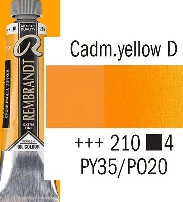 REMBRANDT Екстра Фини Маслени Бои 40 мл. - Cadmium Yellow Deep 4, № 210