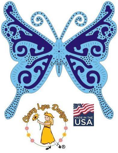 BUTTERFLY Cheery Lynn ,USA - Шаблон за рязане и ембос