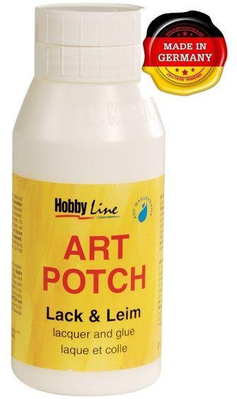 ART POTCH - Лак / лепило за салфетна техника САТЕН 750 мл.