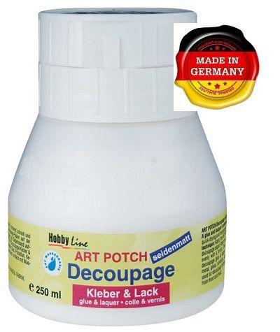 ART POTCH Decoupage - Лак / лепило за декупаж САТЕН  250 мл.