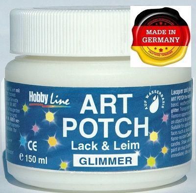ART POTCH GLIMMER - Лак / лепило за САЛФЕТНА ТЕХНИКА  -брокат холографски 150 мл.