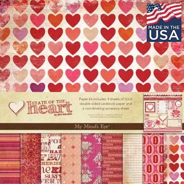 """MME USA # STATE of the  HEART Pad  - Дизайнерски блок 12""""x12"""""""