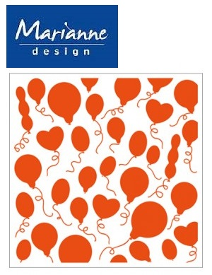 Marianne Design Emboss folder - Папка за релеф Balloons 12x12 см DF3412