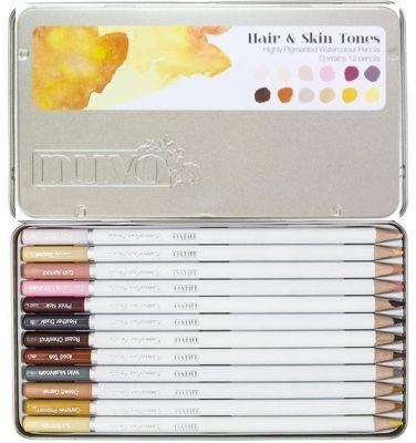 NUVO WATERCOLOUR COLLECTION - Акварелни моливи HAIR & SKIN TONES