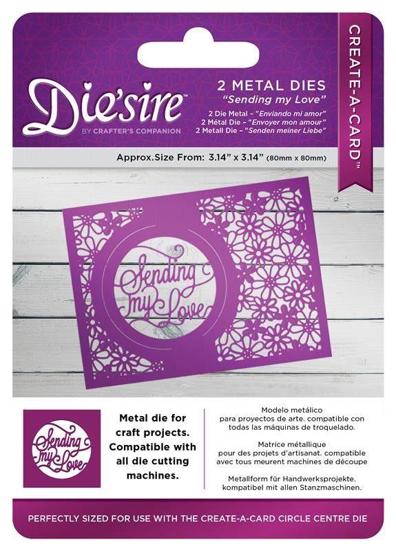 Die'sire Create a Card - SENDING MY LOVE Щанца картичка