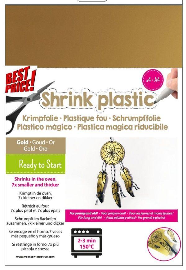 SHRINK PLASTIC A4 / 4бр - Шринк пластмаса  # GOLD - ЗЛАТО