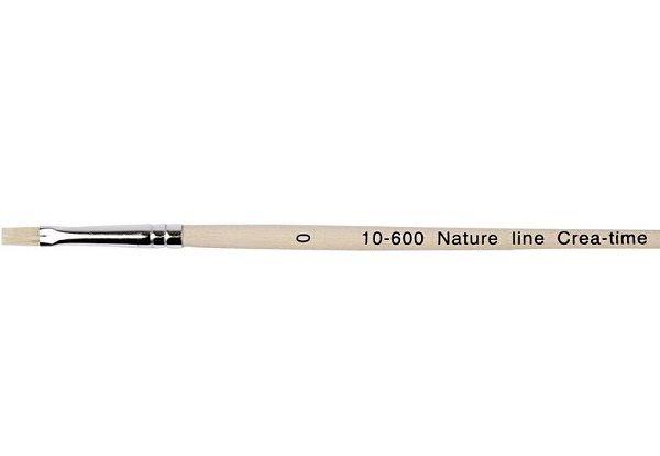NATURE LINE BRUSH 0 - Четка плоска четина 0 / 4мм