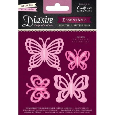 BUTTERFLIES ESSENTIALS DIES  - Щанци BEAUTIFUL BUTTERFLIES