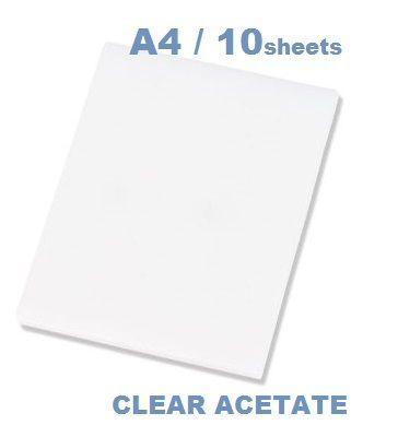 CLEAR ACETATE A4 - АЦЕТАТНИ ЛИСТИ пакет 10 бр