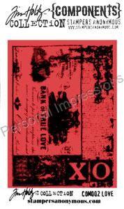 Tim Holtz Collection - клинг печат 6 Х 8.5 см