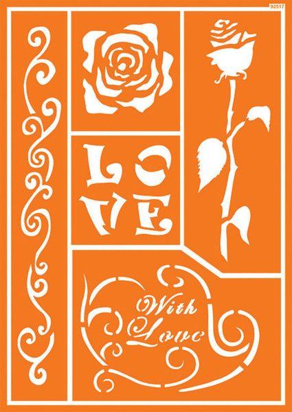 """Шаблон за многократна употреба """"Romantic Rose"""" - 30 Х 20 см."""