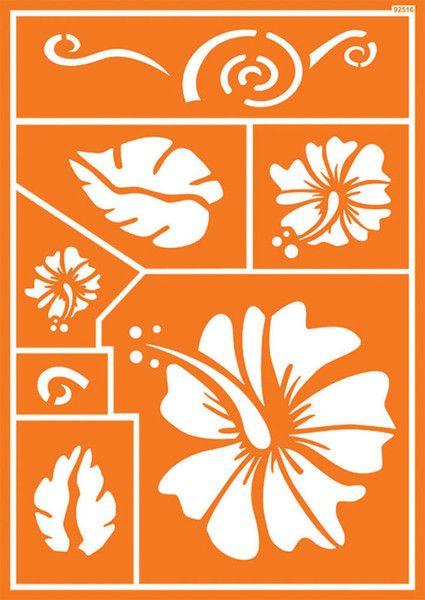 "Шаблон за многократна употреба ""Hawaii Flower""- 30 Х 20 см."