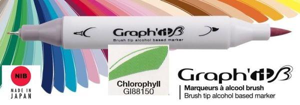 # GRAPH IT BRUSH MARKER - Двувърх дизайн маркери ЧЕТКА - CHLOROPHYLL