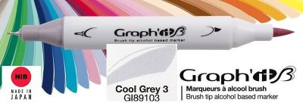 # GRAPH IT BRUSH MARKER - Двувърх дизайн маркери ЧЕТКА - COOL GRAY 3