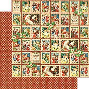 GRAPHIC45 USA CHRISTMAS CHEER  - Дизайнерски скрапбукинг картон 30,5 х 30,5 см.