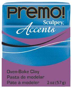 `PREMO Accents` USA - Професионална серия полимерна глина -  Blue Glitter, 2oz