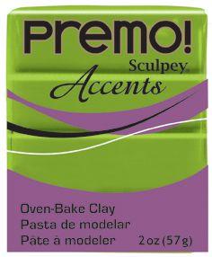 `PREMO Accents` USA - Професионална серия полимерна глина -  Bright Green Pearl, 2oz