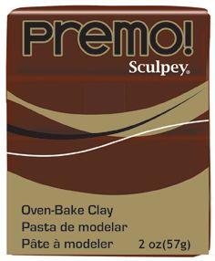 `PREMO` USA - Професионална серия полимерна глина - Burnt Umber, 2oz