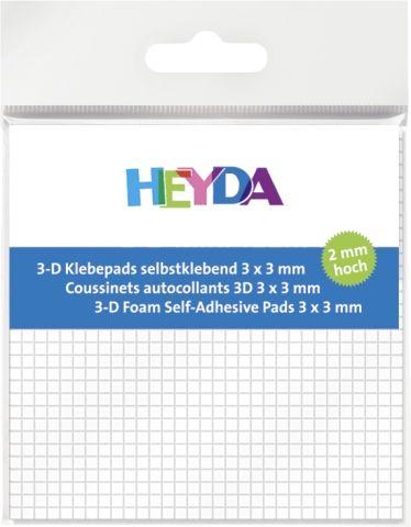 ADHESIVE PADS - 3Д двойно лепящи квадратчета - 3х3х2mm/ 961бр.