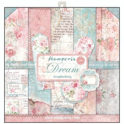 "STAMPERIA Double Face Sheets 10 Pack  - Дизайнерски блок 12""x12"" / DREAM"