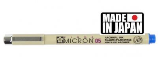 PIGMA MICRON 01 Japan - Профи пигментен тънкописец BLUE