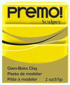 `PREMO` USA - Професионална серия полимерна глина -  Zinc Yellow, 2oz