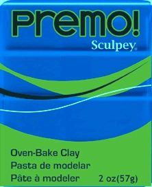 `PREMO` USA - Професионална серия полимерна глина -  Cobalt Blue, 2oz