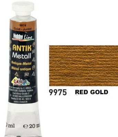 ANTIK METAL 20ml - ЗЛАТНА ПАСТА  за метал и дърво # Антично червено-злато