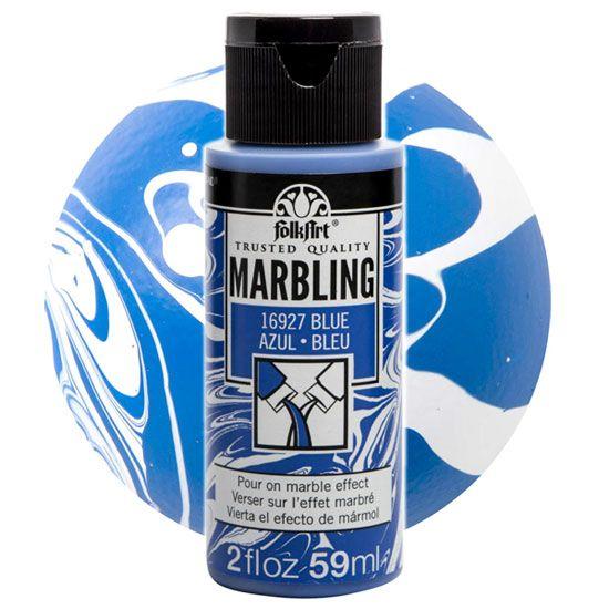 FOLK ART  NEW MARBLING PAINT - Боя за мраморен ефект 59мл BLUE / СИН