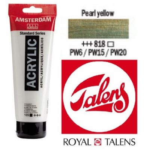 AMSTERDAM ACRYLIC - Акрилна боя за живопис 120 мл. - PEARL YELLOW 818