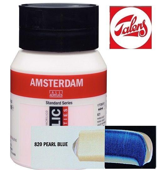AMSTERDAM ACRYLIC - Акрилна боя за живопис 500 мл. - PEARL BLUE 820