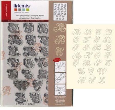 ALPAHABET by ARTEMIO CLEAR STAMPS - Дизайнерска колекция печати 14.5Х18см.