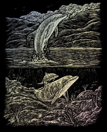 Engraving Art А4 - Картина за гравиране - хамелеон фолио