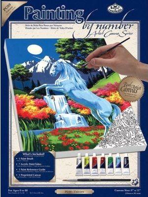 PAINTING by NUMBERS ,USA - Рисуване по номера на платно А4 * PCS9
