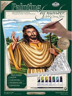 PAINTING by NUMBERS ,USA - Рисуване по номера на платно А4 * PCS10