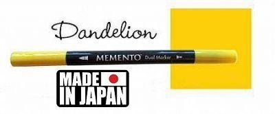 MEMENTO BRUSH MARKER , Japan - Двувърх маркер ЧЕТКА - DANDELION