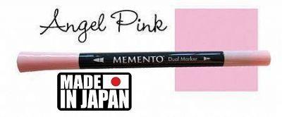 MEMENTO BRUSH MARKER , Japan - Двувърх маркер ЧЕТКА - ANGEL PINK