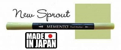 MEMENTO BRUSH MARKER , Japan - Двувърх маркер ЧЕТКА - NEW SPROUT