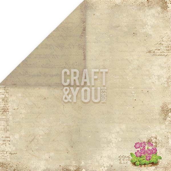 CRAFT&YOU # SPRING GARDEN - Дизайнерски скрапбукинг картон 30,5 х 30,5 см.