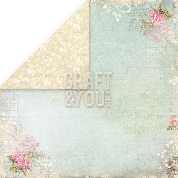 CRAFT&YOU # WEDDING GARDEN - Дизайнерски скрапбукинг картон 30,5 х 30,5 см.