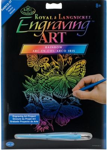 Engraving Art А4 - Картина за гравиране - рейнбоу фолио