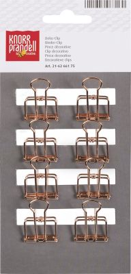 CLIP BINDER 19 mm 8 pieces metal ROSE GOLD-coloured - ЩИПКИ