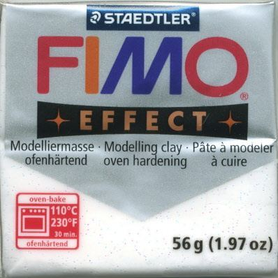 FIMO EFFECT - ПОЛИМЕРНА ГЛИНА Glitter White 052