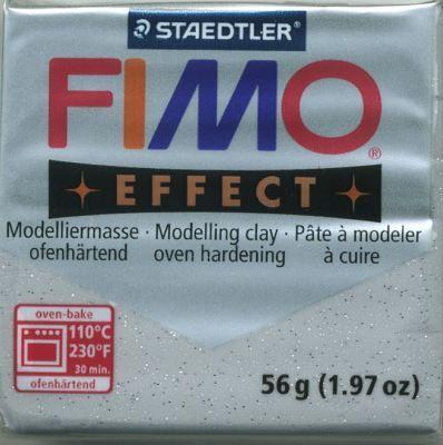 FIMO EFFECT - ПОЛИМЕРНА ГЛИНА Glitter Silver  812